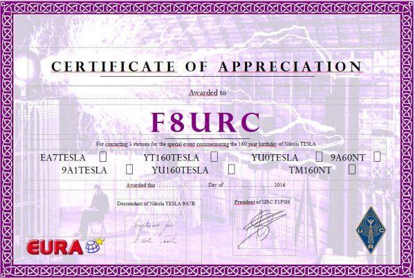 Certificat TM160NT